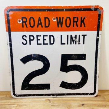 USA SPEED LIMIT25(アメリカ道路標識看板)【1657】