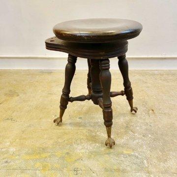 Antique wood stool(アンティークウッドスツール)【213】
