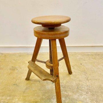 Vintage _wood stool(ビンテージウッドスツール)【901】