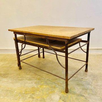 Vintage_Wood iron Work table(ビンテージワークテーブル)【890】
