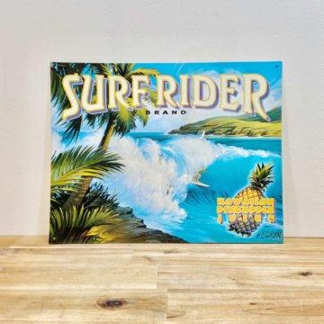 Vintage _SURF RIDER_sign【550】