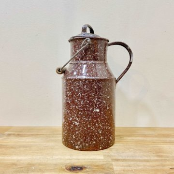 Vintage _Enamel pot【2409】