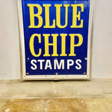 BLUE CHIP STAMPS Signboard【535】