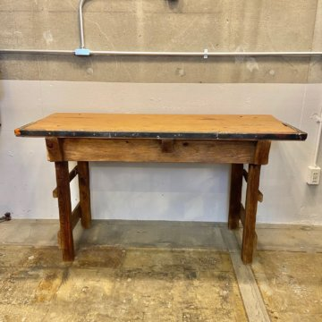 Vintage_Wood Work table【2941】