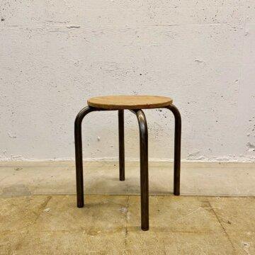 Iron &wood stool【3496】