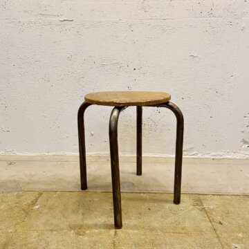 Iron &wood stool【3492】
