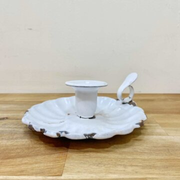 Vintage_Enamel candle holder【3286】