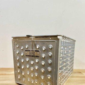 Vintage_Wire basket【4345】