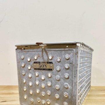 Vintage_Wire basket【4343】