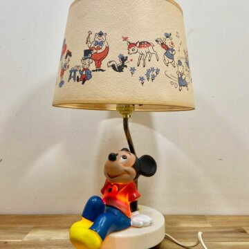 VINTAGE MICKEY MOUSE TABLE LAMP【5297】