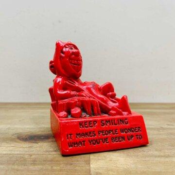 Vintage_Message Doll Red Devil【5572】