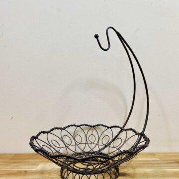 Vintage_Wire basket【5290】