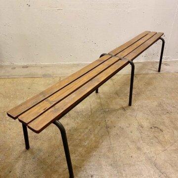 Vintage_Wood Iron Bench【3491】