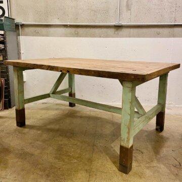 Vintage_Wood Work table【4825】
